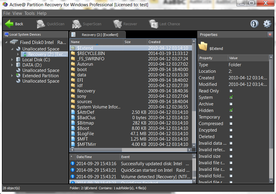 Active@ Partition Recovery full screenshot